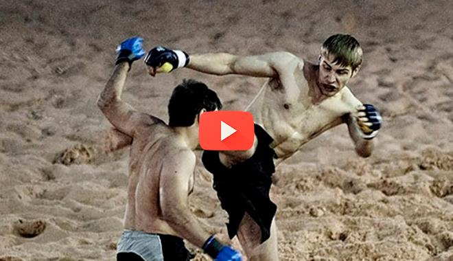 Этот парень из толпы умудрился пробить голову профессиональному бойцу MMA…